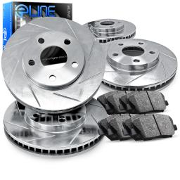 Full Kit eLine Diamond Slotted Brake Rotors & Ceramic Brake Pads CES.75010.02