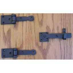 Agave Ironworks LA005-01 Speakeasy Hinge And Latch Set Flat Black
