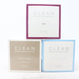 Clean Scented Candle Collection , Skin, Fresh laundry, White Wood,New With Box