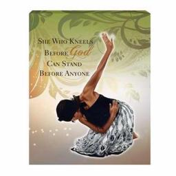 African American Expressions 216900 Canvas-She Who Kneels-Small, 11 x 14