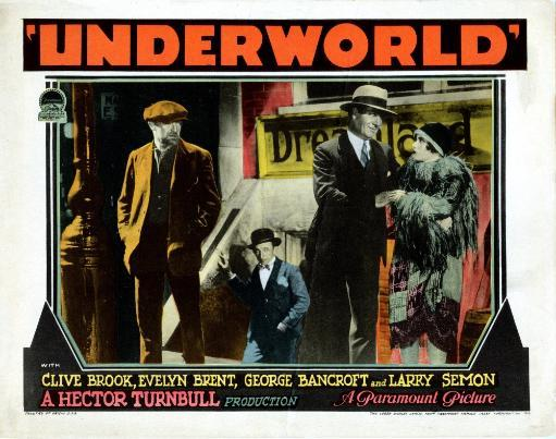 Underworld Us Lobbycard Clive Brook Larry Semon George Bancroft Evelyn Brent 1927 Gangsters Movie Poster Masterprint
