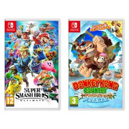 Nintendo Switch Super Smash Bro & Donkey Kong Tropical Freeze Video Game