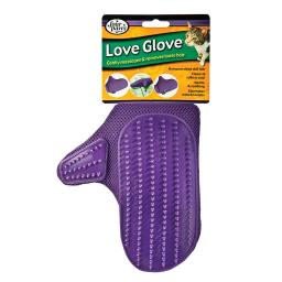 Four paws 100530703 four paws love glove grooming mitt for cats