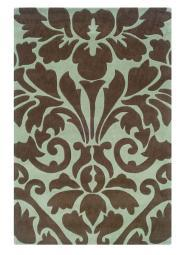 Linon Trio Collection Chocolate & Spa Blue - 8' x 10'
