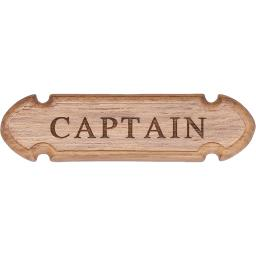 Whitecap teak captain name plate 62670