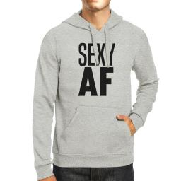 Sexy AF Unisex Grey Pullover Hoodie Cute Graphic Workout Hoody Gift