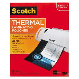 """Laminating Pouches 3 Mil 9"""" X 11.5"""" Gloss Clear 50 Per Pack   1 Pack of: 50"""