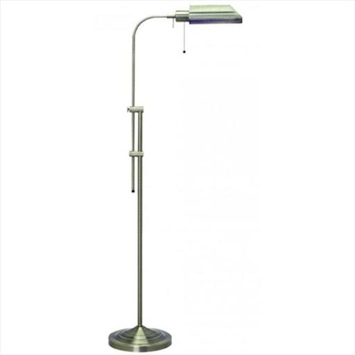 Cal Lighting BO-117FL-BS 100 W Pharmacy Floor Lamp With No Shades, Brushed Steel Finish