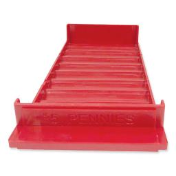Stackable Plastic Coin Tray Pennies 3.75 X 11.5 X 1.5 Red 2 Per Pack   1 Pack of: 2