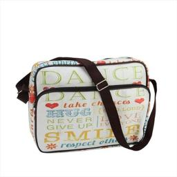 NorthLight 14.75 in. Decorative Inspirational Words Design Bag & Purse With Strap
