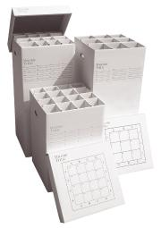 """Advanced organizing systems mgr-37 16 slot manager rolled storage 37""""h x 16""""w x 16""""l"""