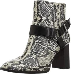 BCBGeneration Women's Agnes Harness Bootie Ankle Boot Natural Snake 9 M US