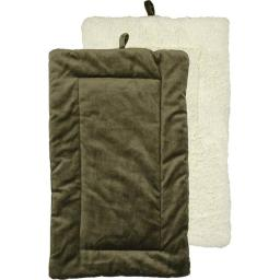 Urban Loft by Westex PCMGRNXXL 35 x 22 in. Non-Slip Sherpa Bottom Pet Crate Kennel Mat - Green