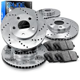 Full Kit eLine Cross-Drilled Brake Rotors & Ceramic Brake Pads CEX.75010.02
