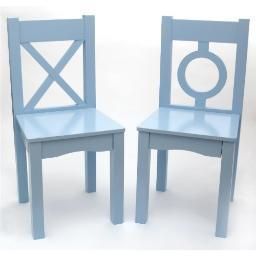 Lipper 521-2bl childs chairs light blue 2pk