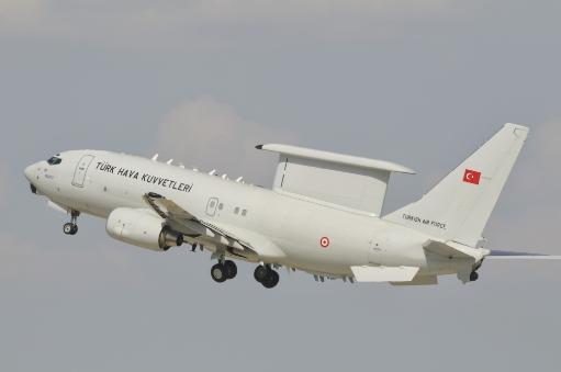 A Turkish Air Force Boeing 737 AEW & C during Exercise Anatolian Eagle in Turkey Poster Print
