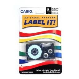 Casio-computer xr-6wes 1pk label printer tape 1/4in