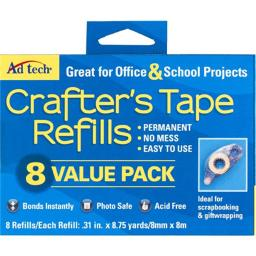 Ad-Tech 5674 Crafters Tape Refills, Value Pack - Pack of 8
