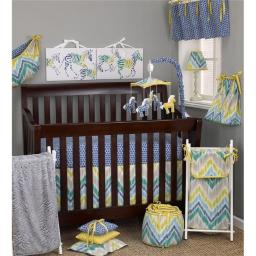 Zebra Romp 3 Piece Crib Bedding Set