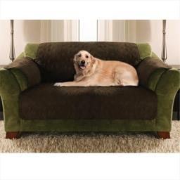 Yes Pets 59-90016BAK Love Seat Size Quilted Micro Suede Furniture Protector - 100 Percent Polyester, Bark