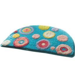 Naomi - Blue Polka Dots Kids Room Rugs (15.7 by 24.8 inches)