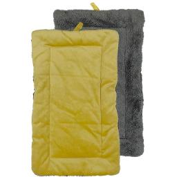 Urban Loft by Westex PCMGOLXL 31 x 22 in. Non-Slip Sherpa Bottom Pet Crate Kennel Mat - Gold