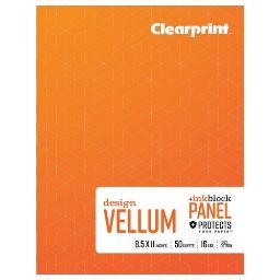 Chartpak, Inc. Cvb8511p2 Clearprint 1000h Plain Vellum Sketch Book 8.5x11
