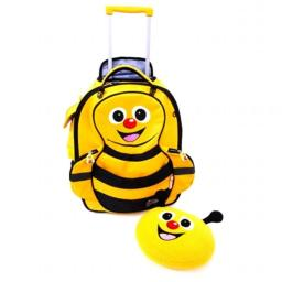 Cuties and Pals BEE2000 Cazbi Bee Kids Soft Rolling Upright Trolly