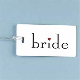 WMU 374795 4-1/4'' x 2-1/4'' Bride Luggage Tag
