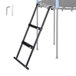 """Yescom 39"""" Trampoline Ladder 2 Step Wide Anti Skid for Kid Outdoor 12 to 15 Ft Bounce"""