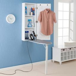 "SEI Clara Wall Mount Ironing Center (White) (42""H x 16""W x 7""D)"