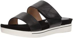 ADRIENNE VITTADINI Footwear Women's Calais Sandal, Black-Small, 7.5 Medium US