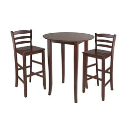 Winsome Fiona 3-Piece High Round Table With Ladder Back Stool