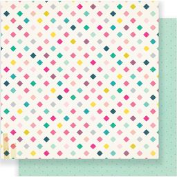 American Craft Crate Paper Cute Girl Collection 12 X 12 Double Sided Paper Magical