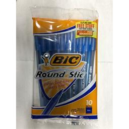 Rnd Stic Pen 10Ct