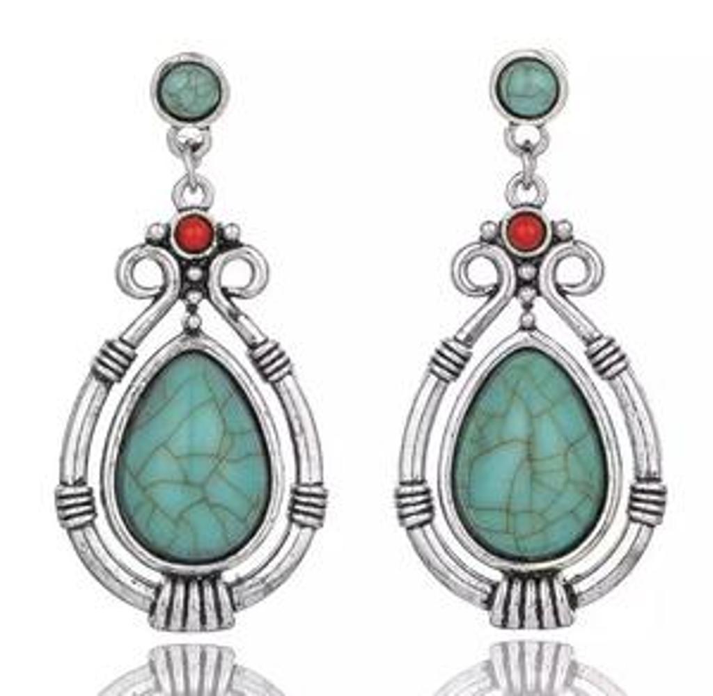 Turquoise Water Drop Dangle Earrings
