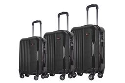 Brio Luggage Hardside Spinner Luggage Set #1701 - Black