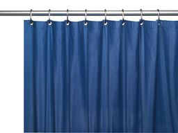 "American crafts 8 Gauge ""Hotel Collection"" Vinyl Shower Curtain Liner With Metal Grommets - Monaco Blue - 72"" X 72"""