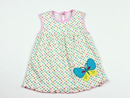 Z by Yoon Infant Multi Dot Dress with Butterfly Applique SD272GMB