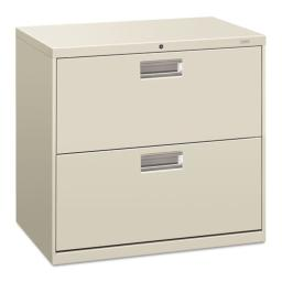 600 Series Two-Drawer Lateral File, 30w x 19-1/4d, Light Gray, Sold as 1 Each