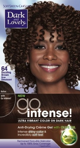 Dark & Lovely Go Intense #64 Hair Color Dazzle Brown Kit (Pack of 2) F8127E072EEA3F36