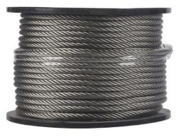 "Campbell 7000826 Stainless-steel Aircraft Cable 1/4"" X 250'"