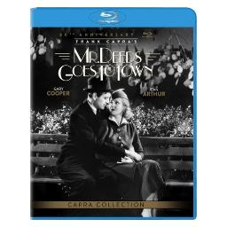 Mr deeds go to town (blu ray w/ultraviolet) (80th anniversary ed) (b&w) BR48783
