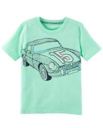Carter's Baby Boys' Race Car Jersey Tee, Mint
