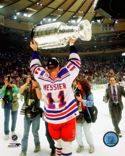 Mark Messier 1993-94 Stanley Cup Finals Celebration Photo Print QMEQ7SCYCSAORXSD