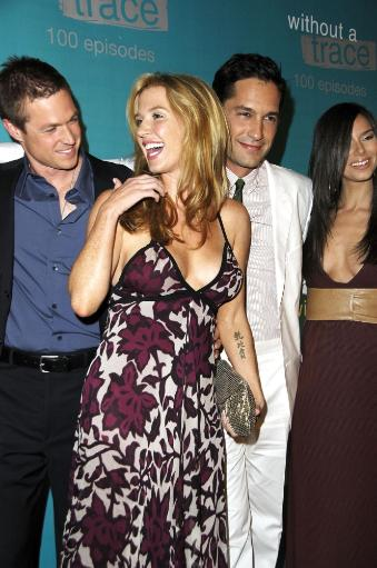 Eric Close, Poppy Montgomery, Enrique Murciano, Roselyn Sanchez At Arrivals For Without A Trace Celebrates 100Th Episode, The Cabana Club At.