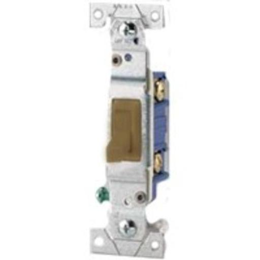 Cooper Wiring 1303-7b 3 Way Quiet Toggle Switch Brown Pk/10