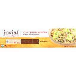 Jovial Pasta - Organic - Whole Grain Einkorn - Spaghetti - 12 oz - case of 12