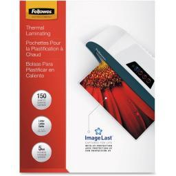 Fellowes, inc. 5204007 glossy pouches -imagelast, letter, 5mil, 150 pack