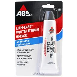 AGS Lith-Ease White Lithium Grease 1.25 oz. - Case Of: 1;